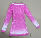 Sublimation-Drucken-Kleid, Sublimationcheerleading-Uniformen, Sublimation-lange Hülsen-Oberseite