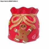 Bloempot van de Pot van de Tuin van de Kerstman van Kerstmis de Ceramische