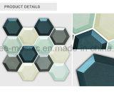 Hexagonal de azulejos de mosaico de vidrio biselado