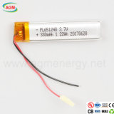 Batterie rechargeable Pl651248 3,7 V 330mAh Batterie lithium-ion 1.22WH