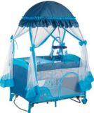 贅沢な蚊帳およびおむつのチェンジャーが付いているヨーロッパ規格の赤ん坊のベビーサークル