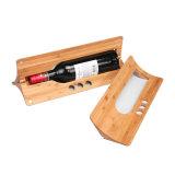 贅沢MDFの白い、赤ワインボックスを包む木の表示ギフト