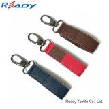 Fabrik kundenspezifischer PU-Flausch Keychain für USB&Key
