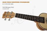 Ukulele тела Zebrawood сопрано 21 дюйма твердый елевый для сбывания
