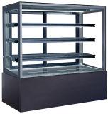 Fabriek-prijs de Showcase van de Vertoning van het Glas van de Koelkast van het Kabinet van de Cake van het Roestvrij staal (st750v-s)