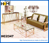 Mesa de centro moderna do metal da mobília com vidro (HC2347)