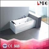 Vasca da bagno poco costosa del mulinello della costruzione della stanza da bagno K-8843, formato della vasca da bagno di standard di disegno della stanza, vasca da bagno di progetto