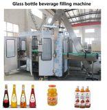 Automatische het Bottelen van de Drank van het Vruchtesap van de Fles van het Glas Was die Afdekkend 3 de Machine van in-1 Eenheid vullen