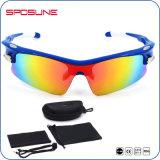 Спорты белого объектива рамки UV400 цветастого ломкие поляризовывали солнечные очки