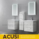 Jeux modernes de vanité de salle de bains de couleur de contre-plaqué blanc de laque (ACS1-L57)