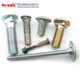 ISO8677、Is08678、DIN603のきのこのヘッド正方形の首のボルト、ステップボルト