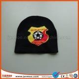 L'hiver de football acrylique noir Bonnet tricoté Cap