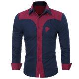 Occasionnels Long-Sleeved d'affaires de chemise d'hommes de la chemise des hommes amincissent la chemise en bonne santé