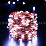 de Lichten 10m 100 van het LEIDENE 3xaa Koord van batterijkabels voor Kerstmis van de Decoratie van het Huwelijk van de Partij van de Slinger van Kerstmis