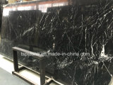 Nero de Mármol Negro Marquina losa de piedra para piso/Piso/pared/escalera/baño/cocina/cuarto de baño azulejo mosaico/pared