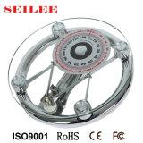Escala de mola mecânica de vidro redonda da máquina de peso