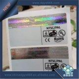 Hot Stamping Folha com holograma Adesivo de Segurança