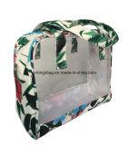 Transparant pvc met Zakken van de Make-up van de Bevordering van de Polyester van de Bloem de Draagbare, Kosmetische Zakken