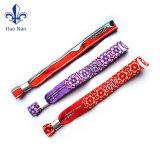 Bracelets de festival de polyester tissés par coutume pour l'usager de musique