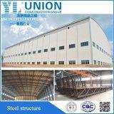 Estructura de acero de bajo coste de construcción con materiales de construcción para el taller y almacén