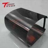 Folha de metal personalizada de fábrica parte anodizado preto brilhante