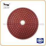 도와 화강암 대리석을%s 4 Inch/100mm 튼튼한 유형 닦는 패드 담황색 패드