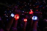 13.56MHz RFID LED pulseira de silicone com luz LED para Parques Aquáticos