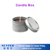Espaço em branco por atacado do Sublimation que Wedding a caixa cerâmica pequena da vela do suporte de vela