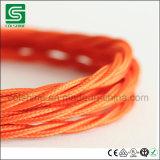 Le tissu a couvert le câble Twisted électrique gainant tressé de textile