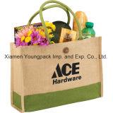 卸し売り習慣によって印刷される大きいEco友好的なResusableのジュートの食料雑貨入れの袋