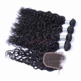 自然な波の人間の毛髪の拡張インドのRemyの人間の毛髪のよこ糸