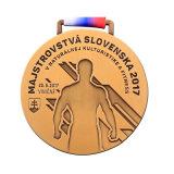 Медаль гимнастики металла цены по прейскуранту завода-изготовителя с тесемкой (XD-03114)