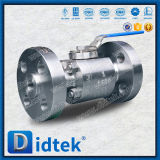 Didtek de acero inoxidable de alta presión válvula de bola flotante F51