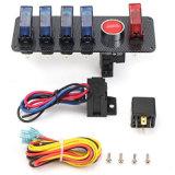 12V emballant l'allumage Switch+4 Blue& de véhicule de chemin 1 panneau rouge de bouton d'interrupteur à bascule de DEL