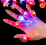 도매 각종 번쩍이는 LED 플라스틱 장난감 반지