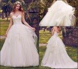 Кружево свадебной Gowns Puffy Appliqued свадебные платья Strapless Vestido де Noiva W14905