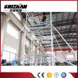 Andamios movibles de aluminio de la escala de la torre del andamio