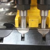 C-Placa de tipo de estructura de la soldadura máquina CNC para perforar la placa de la marca de punzón