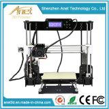 Imprimante en aluminium de mise à niveau automatique améliorée du composé 3D de la taille 220X220X240mm Fdm DIY d'impression