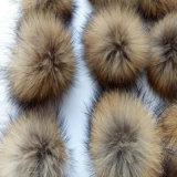 Фальшивый Raccoon мех Beaine Pompom поддельные фо мех Pompom Raccoon