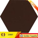 Azulejo de suelo de cerámica rústico del material de construcción del azulejo del hexágono (23007)