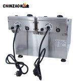 mini friteuse électrique commerciale des doubles réservoirs 8L