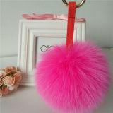 毛皮の球のキーホルダー袋の魅力の毛皮POM