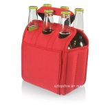 Fácil de manejar el refrigerador de botellas de neopreno, pack de 6 Enfriador puede
