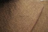 Tissu de sofa de plaine de Chenille de café (FTH31121)