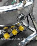 Chaleira do revestimento do vapor do aço inoxidável de boa qualidade com misturador