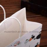 De alta calidad de impresión CMYK pequeñas bolsas de papel blanco para promoción