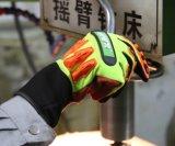 TPR Impact-Resistant antivibrations Gants de travail de sécurité mécanique