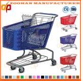 Trole plástico da compra do supermercado das rodas da alta qualidade 4 (Zht90)