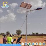 Diseño accionado solar de la luz los 6m poste 30W del LED